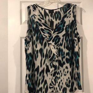 Worthington sleeveless sheer blouse plus size 3x